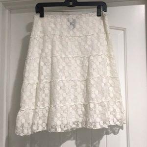 Max Edition cream lace mini skirt.